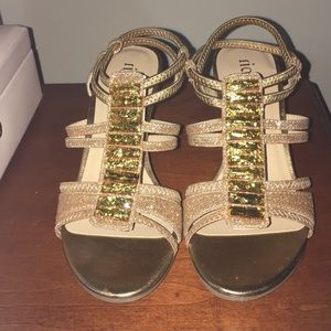 Like new Gold strappy shoes